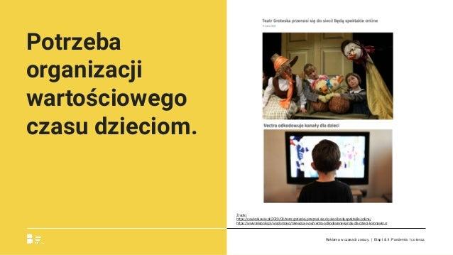 Potrzeba organizacji wartościowego czasu dzieciom. Źródło: https://cowkrakowie.pl/2020/03/teatr-groteska-przenosi-sie-do-s...