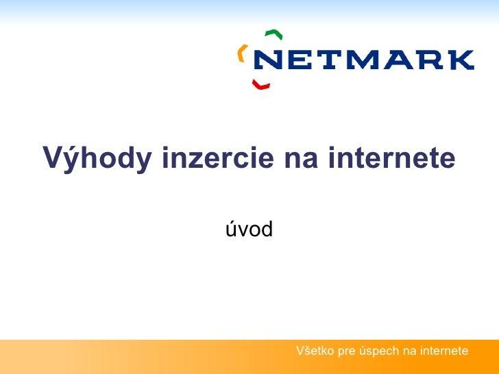 Výhody inzercie na internete úvod