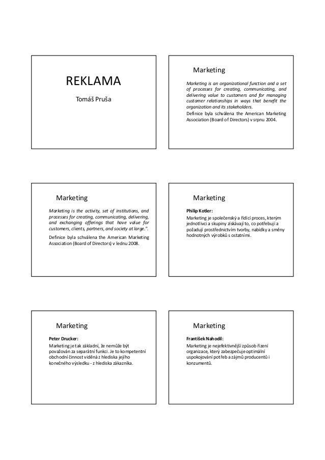 Marketing        REKLAMA                                         Marketing is an organizational function and a set        ...