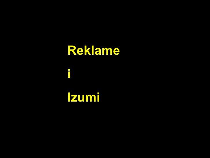 Reklame i Izumi