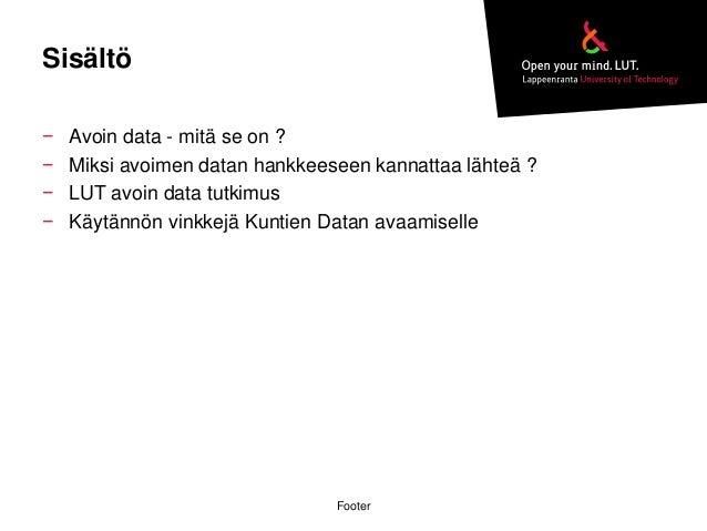 OKRoadshow Mikkeli 13.10.2014: Avoin tieto Lappeenrannassa Slide 2