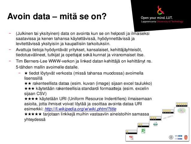 OKRoadshow Mikkeli 13.10.2014: Avoin tieto Lappeenrannassa Slide 3