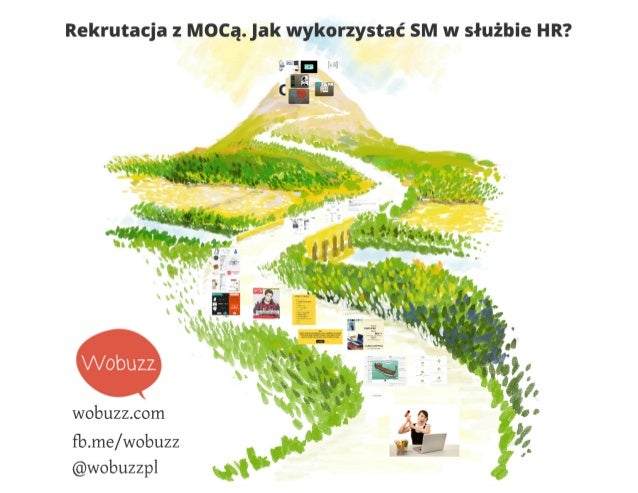 """Rekrutacja z Mocą.  jak wykorzystać SM w służbie HR?        mn;  w  . It """"  wobuzz. com  fb. me/ wobuzz @wobuzzpl"""