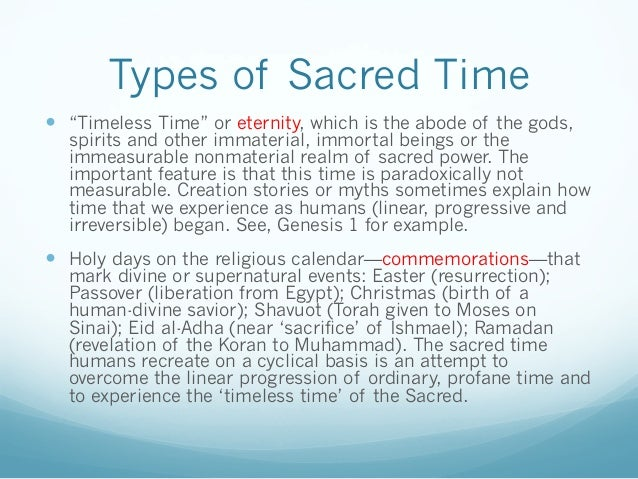 Rel 207 Sacred Space And Sacred Time