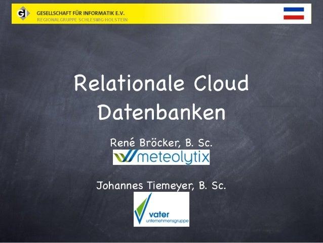 Relationale Cloud Datenbanken