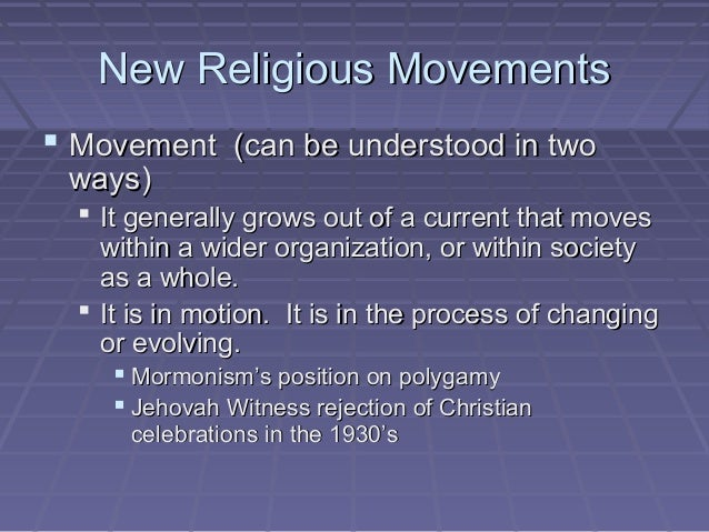 essays on new religious movements Is the bahá'í faith a world religion or a new religious movement in the socio-religious classification of new religious movement essays and short.
