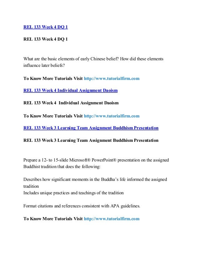 rel 133 Rel 133 entire course link world religious traditions i the latest version a+ study guide.