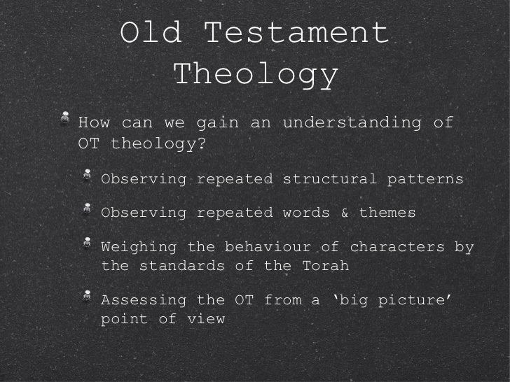 Rel404 Exploring Faith Session 3 Old Testament Theology