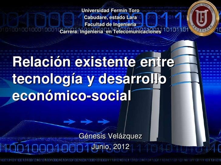 Universidad Fermín Toro                 Cabudare, estado Lara                 Facultad de Ingeniería      Carrera: Ingenie...