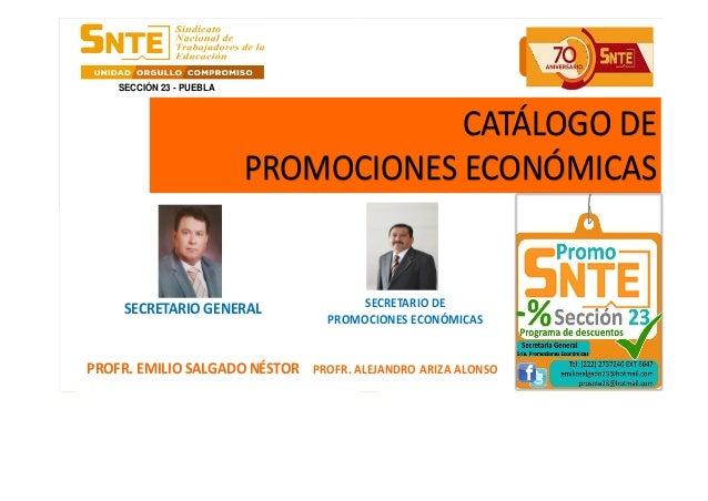 LA UNIDAD Y SERVICIO SON NUESTRO COMPROMISO  SECRETARÍA GENERAL SRIA. PROMOCIONES ECONÓMICAS  LA UNIDAD Y SERVICIO SON NUE...