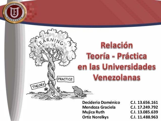 Deciderio Doménico C.I. 13.656.161 Mendoza Graciela C.I. 17.249.792 Mujica Ruth C.I. 13.085.639 Ortiz Norelkys C.I. 11.488...