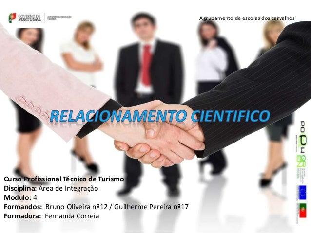 Agrupamento de escolas dos carvalhos Curso Profissional Técnico de Turismo Disciplina: Área de Integração Modulo: 4 Forman...