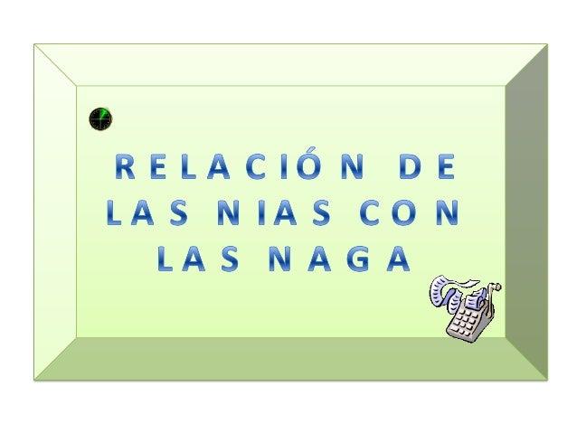 RELACIÓN DE LAS NIAS Y NAGAS