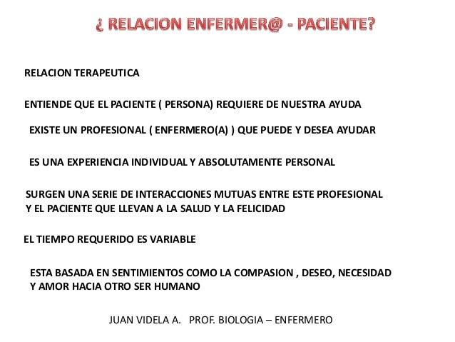 RELACION TERAPEUTICA ENTIENDE QUE EL PACIENTE ( PERSONA) REQUIERE DE NUESTRA AYUDA EXISTE UN PROFESIONAL ( ENFERMERO(A) ) ...