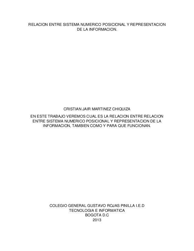 Relacion entre sistema numerico posicional y representacion de la informacion Slide 2