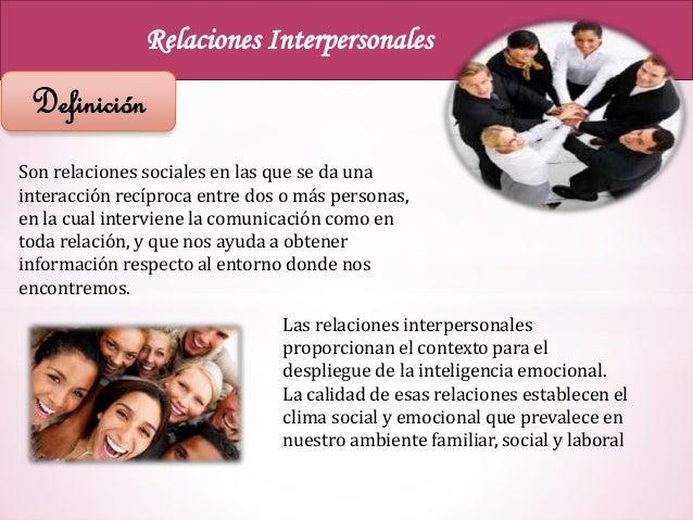 Relaciones Interpersonales Asertividad Definicion