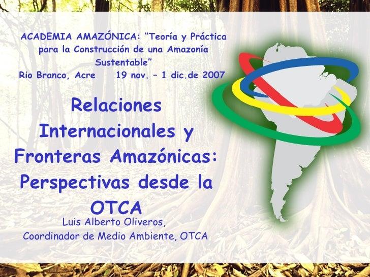 """ACADEMIA AMAZÓNICA: """"Teoría y Práctica     para la Construcción de una Amazonía                 Sustentable"""" Rio Branco, A..."""