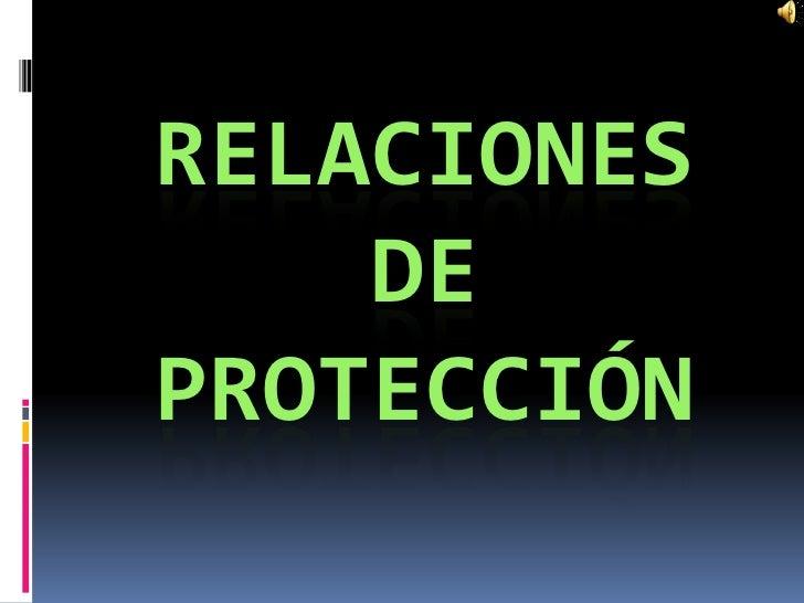 RELACIONES    DEPROTECCIÓN