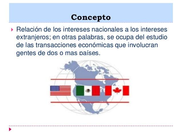 Relaciones econ micas internacionales for Concepto de exterior