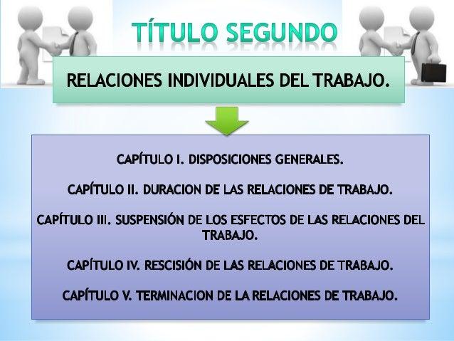 Relaciones individuales de trabajo Slide 2