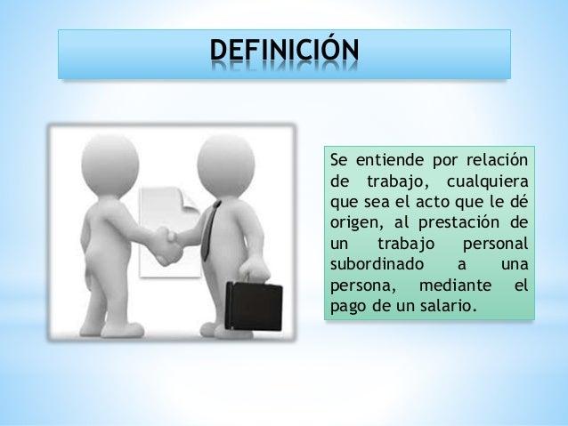 Relaciones individuales de trabajo Slide 3