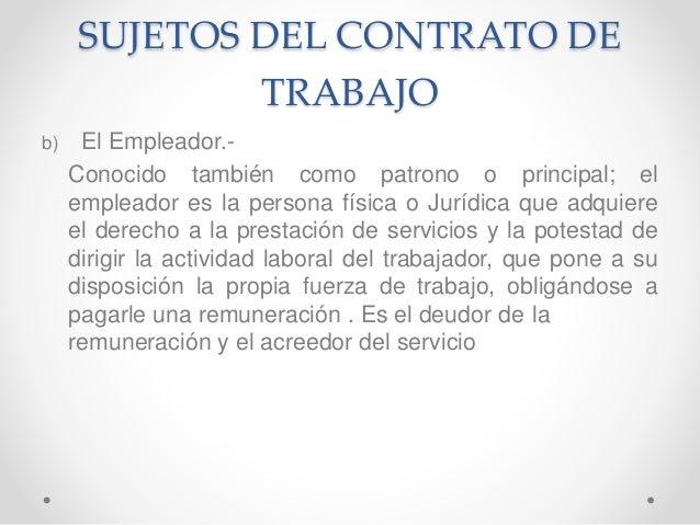 SUJETOS DE LA RELACION LABORAL PDF DOWNLOAD