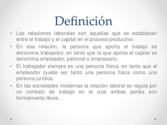Definicion de relacion laboral pdf ukindex for Definicion de gastronomia pdf