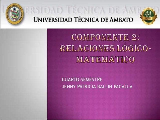 CUARTO SEMESTRE JENNY PATRICIA BALLIN PACALLA