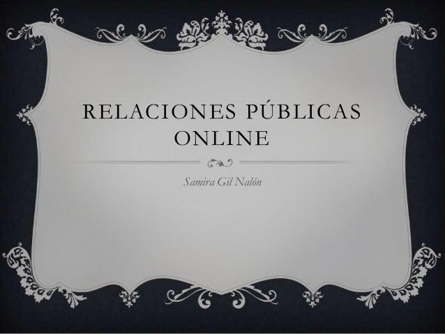 RELACIONES PÚBLICASONLINESamira Gil Nalón