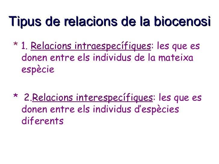 RELACIONS DE LA BIOCENOSI Slide 3