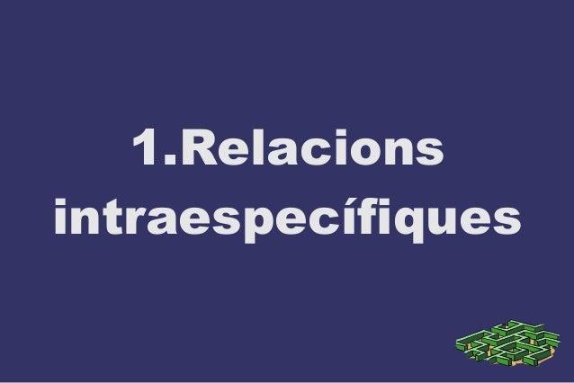 1.Relacions intraespecífiques