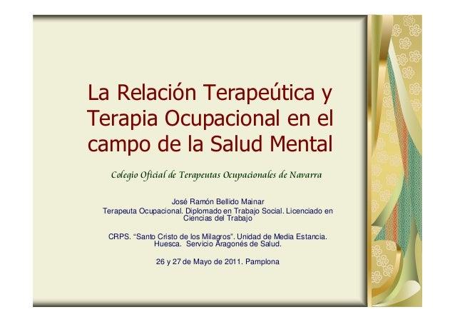 Relacion Terapeutica Iv Y Terapia Ocupacional