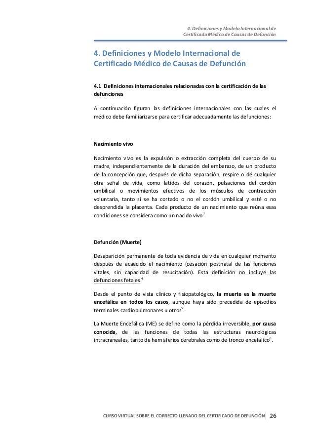 Único Copia Del Certificado De Defunción Ideas - Certificado Actas ...