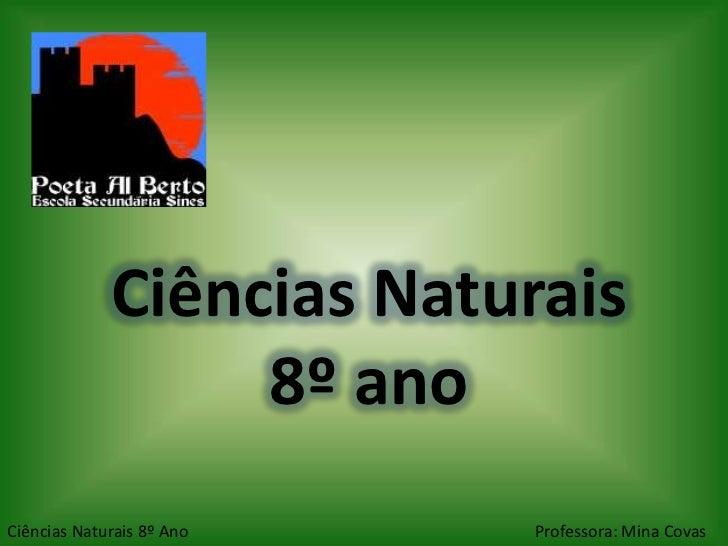Ciências Naturais                  8º anoCiências Naturais 8º Ano   Professora: Mina Covas