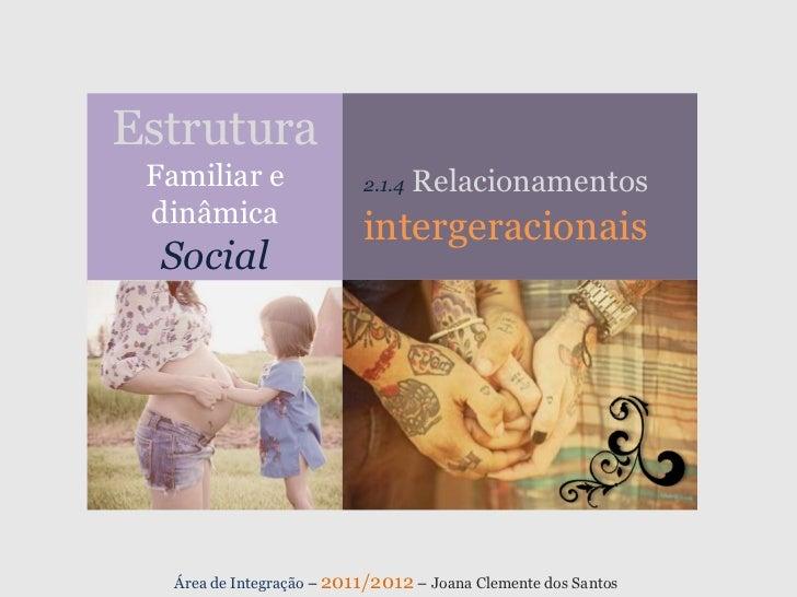 Estrutura Familiar e                2.1.4   Relacionamentos dinâmica                           intergeracionais  Social   ...