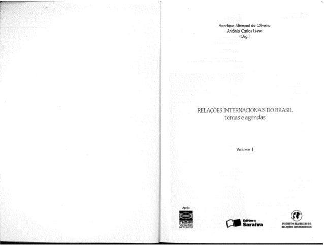Relações internacionais do brasil vol. 1   fichamento 1