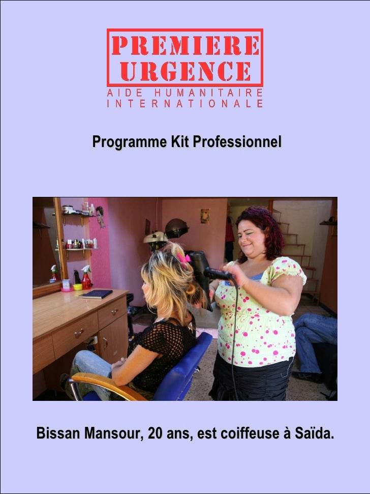 Programme Kit Professionnel Bissan Mansour, 20 ans, est coiffeuse à Saïda.