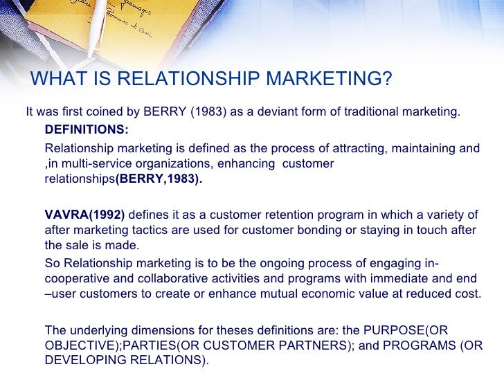 what is relationship marketing Is relationship marketing strategy a term you recognize do you use relationship marketing to improve your business check out these ideas to try.