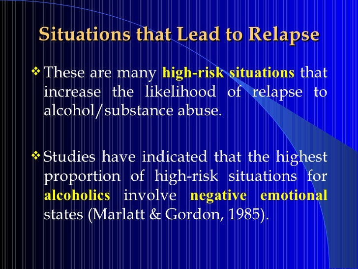High Risk Situations For Relapse Worksheet - Sharebrowse