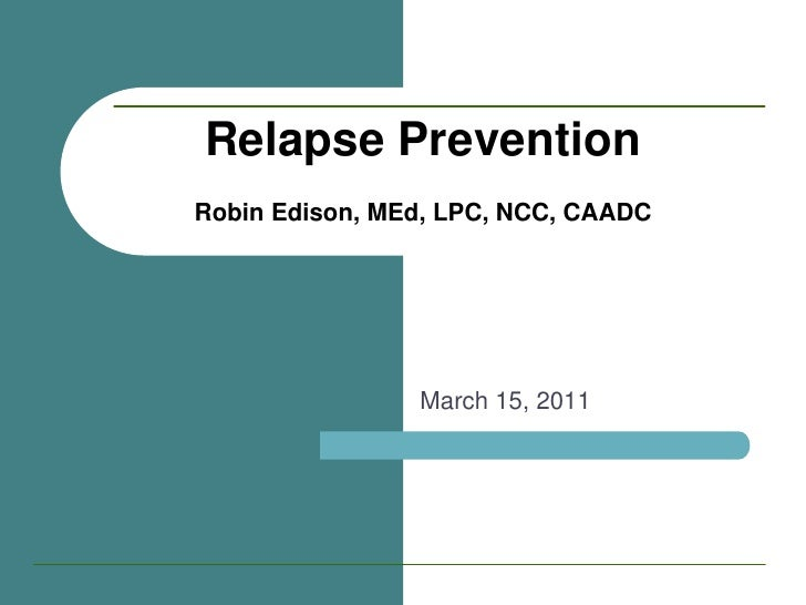 relapse prevention march 2011