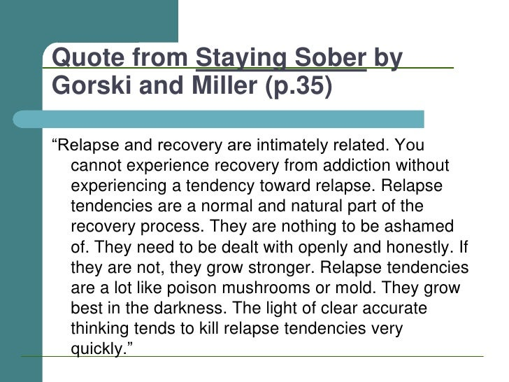 Relapse Prevention - March 2011