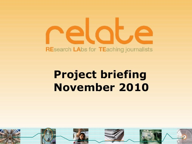 Project briefing November 2010
