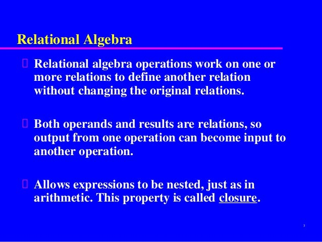 relational calculus Relational calculus definition - relational calculus is used with a non-procedural declarative query language in which the user is not concerned with.