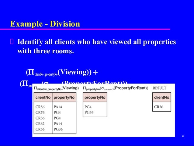 relational calculus in dbms with examples pdf