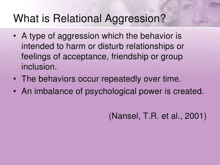 Relational Aggression Presentation By Dave Krasky