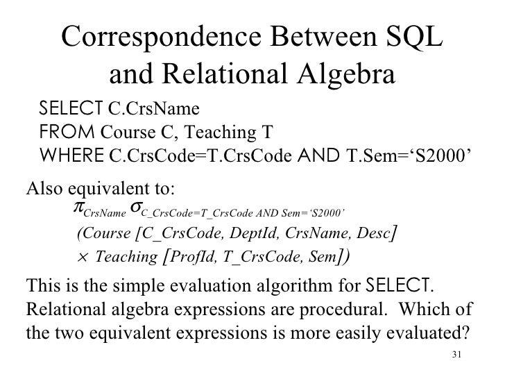 write a relational algebra expression