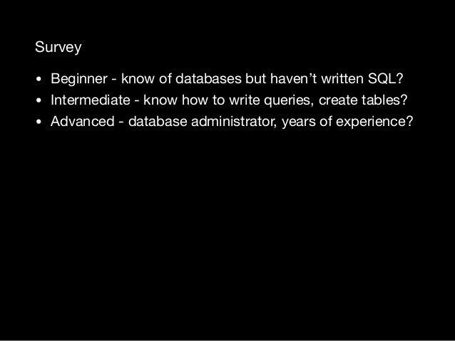 Relational Database Design Bootcamp Slide 3