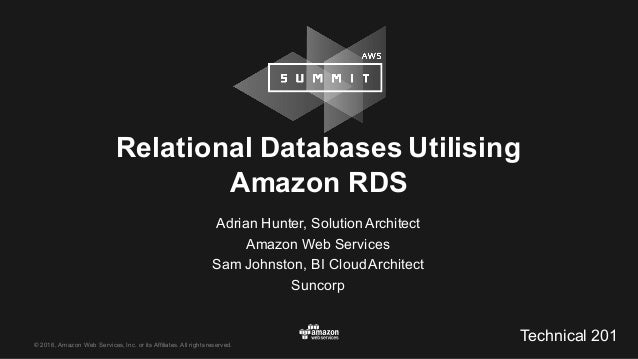 © 2016, Amazon Web Services, Inc. or its Affiliates. All rights reserved. Adrian Hunter, Solution Architect ...