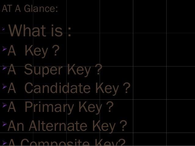 Relational keys Slide 2