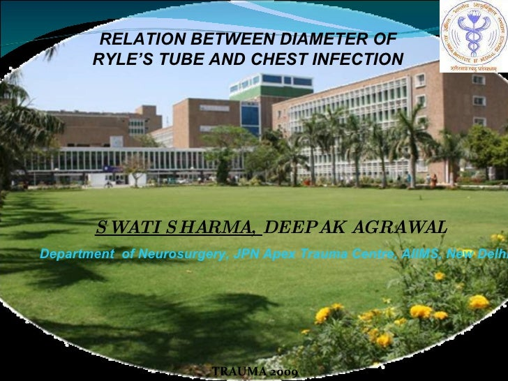 SWATI SHARMA,  DEEPAK AGRAWAL Department  of Neurosurgery, JPN Apex Trauma Centre, AIIMS, New Delhi TRAUMA 2009 RELATION B...